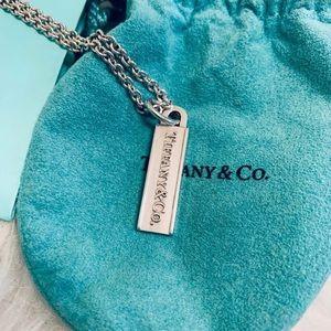 Tiffany & Co. Tag Pendant Necklace *RARE*